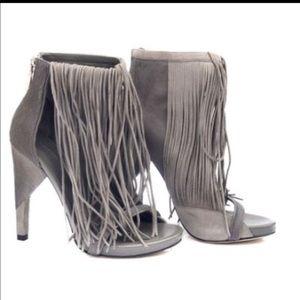 Alexander wang Dree grey fringe heels